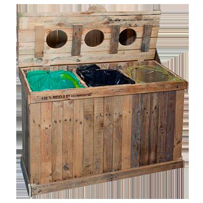Eco design e arredamento sostenibile eco wood - Mobili contenitori da esterno ...